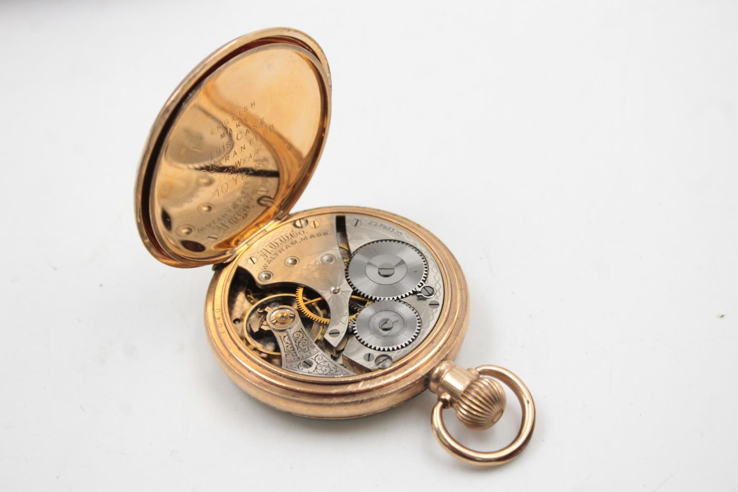 Vintage Gents WALTHAM Rolled Gold Open Face POCKET WATCH Hand-Wind (102g) - Image 4 of 6