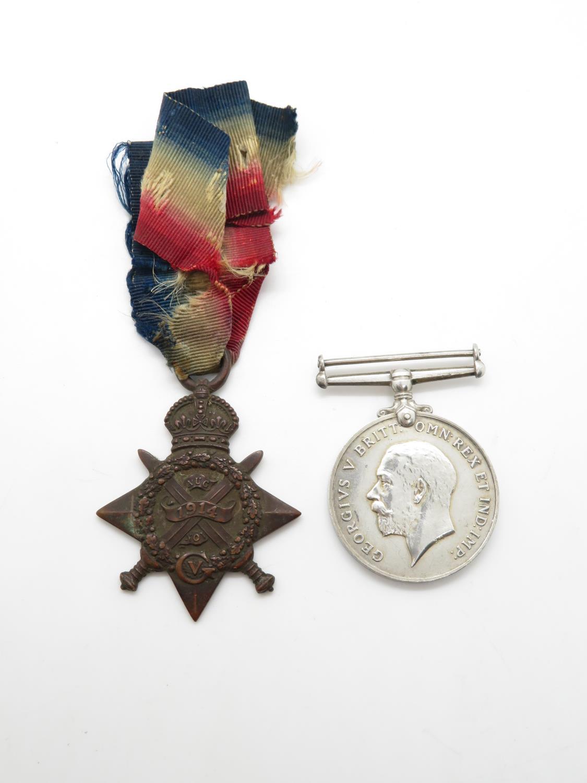 WW1 mons star + war medal named 1981 private g. sutherland sea forth highlander