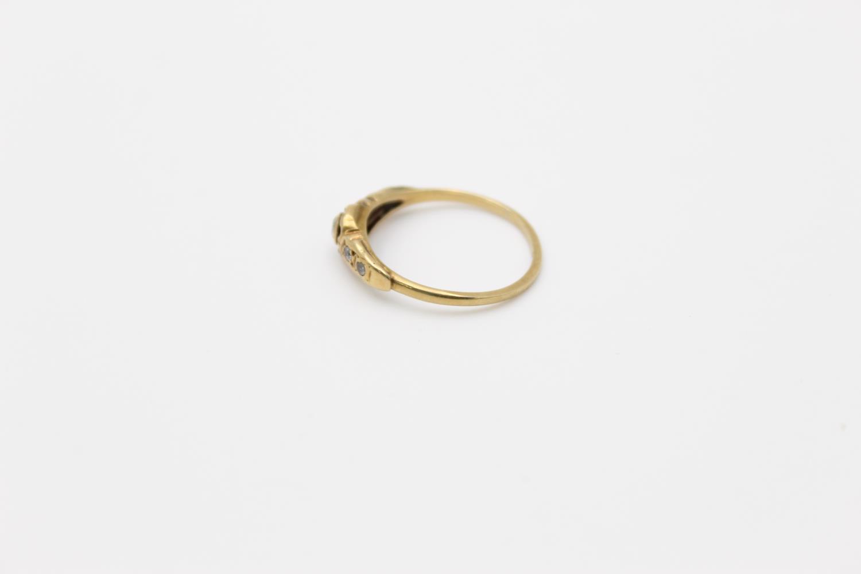 antique 18ct gold diamond set ring 2g Size N - Image 2 of 4