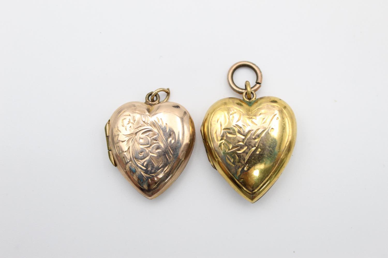 4 x vintage 9ct gold back & front lockets 17.7g - Image 5 of 7