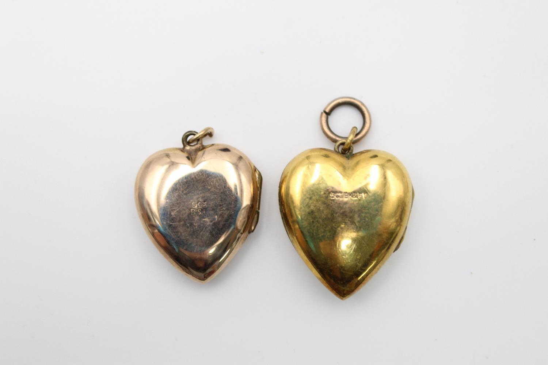 4 x vintage 9ct gold back & front lockets 17.7g - Image 7 of 7