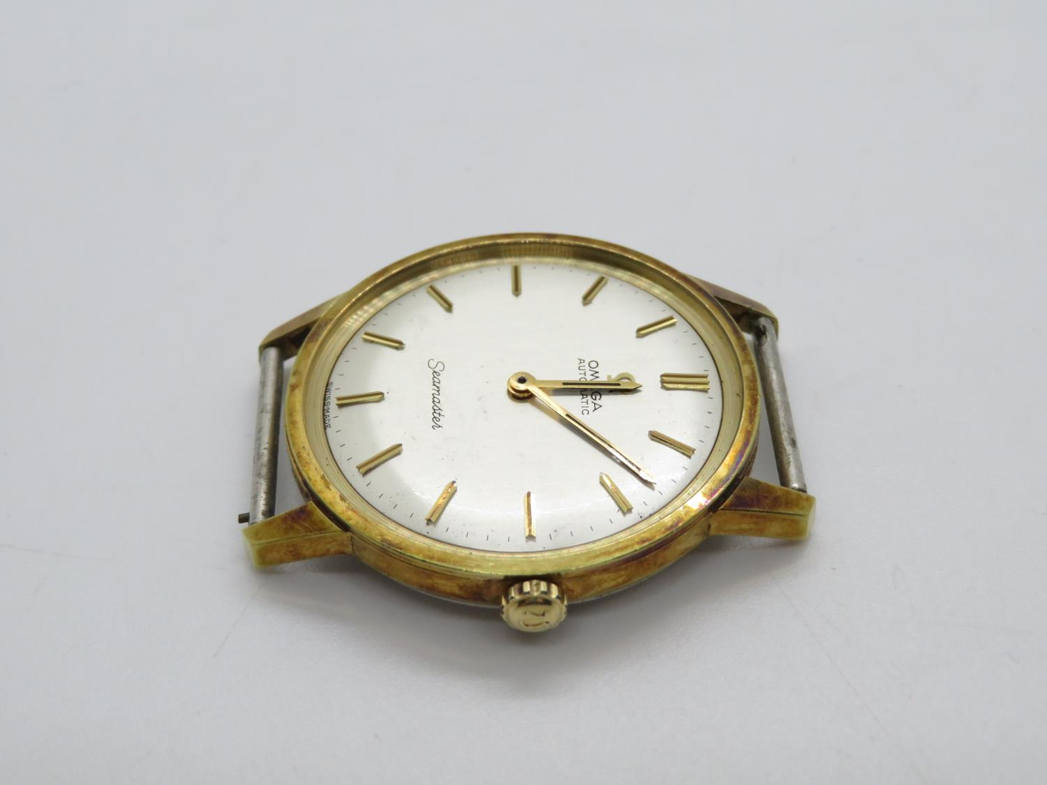 Omega seamster gents vintage gold tone wristwatch head only. hand wind - Image 2 of 3