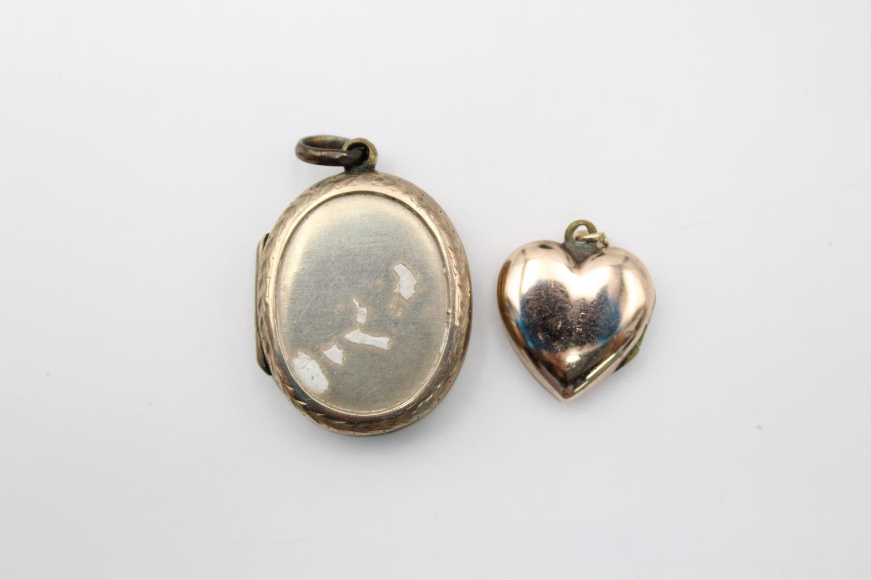 4 x vintage 9ct gold back & front lockets 17.7g - Image 4 of 7