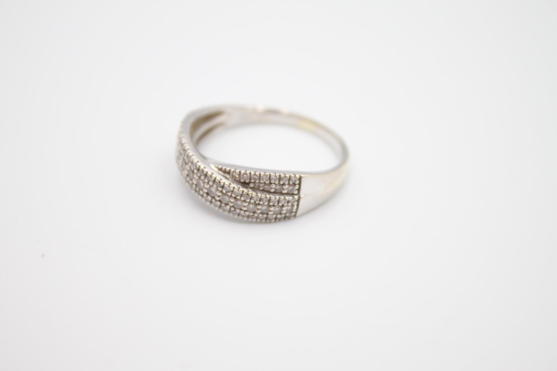9ct white gold diamond dress ring 3.6g Size P - Image 2 of 4