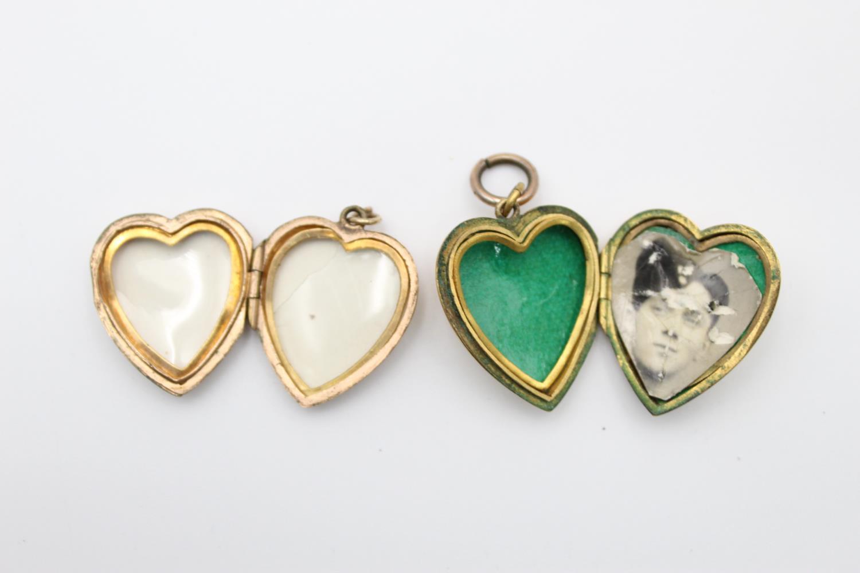 4 x vintage 9ct gold back & front lockets 17.7g - Image 6 of 7