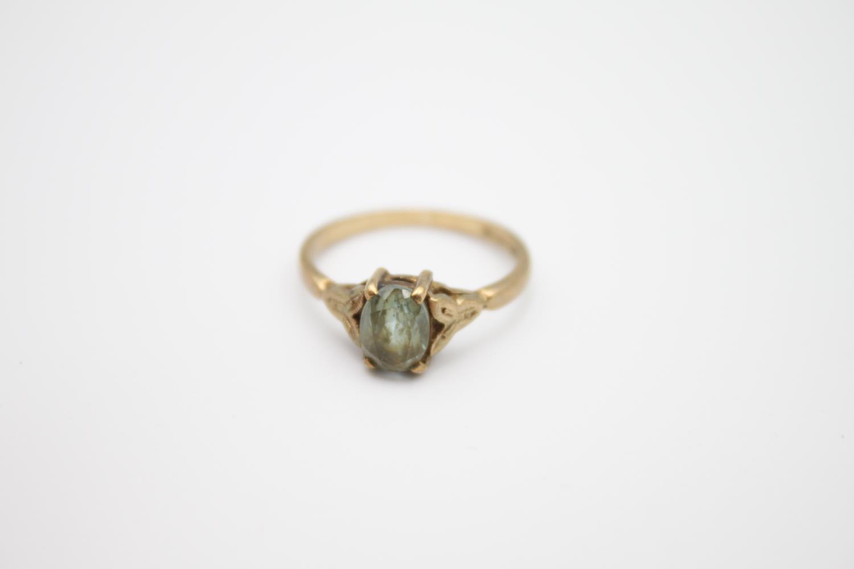2 x vintage 9ct gold stone set rings inc citrine 3.2g Size K & M - Image 2 of 4