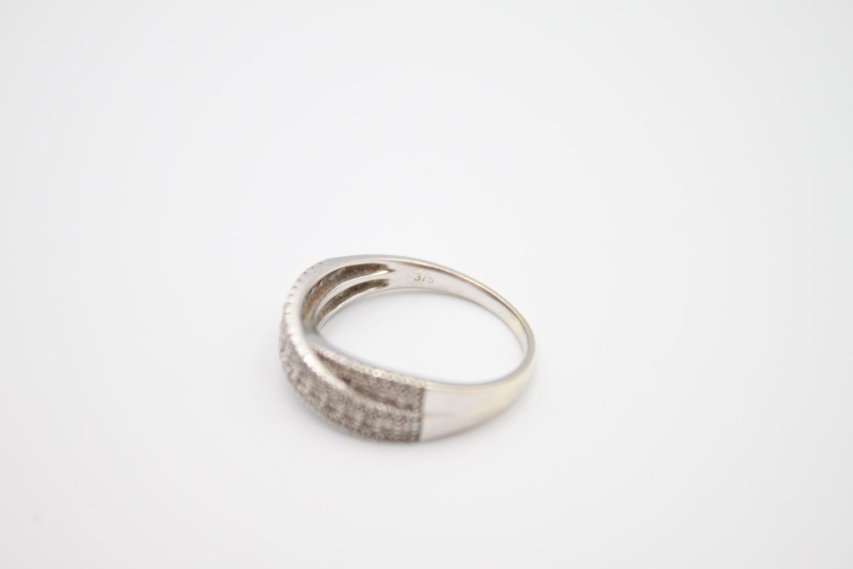 9ct white gold diamond dress ring 3.6g Size P - Image 4 of 4