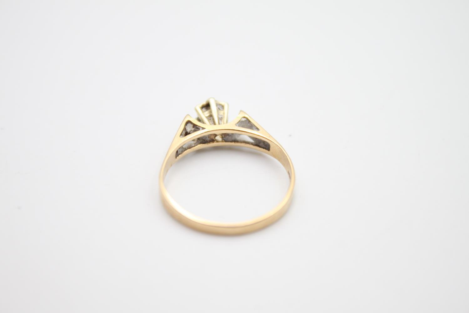 vintage 9ct gold diamond solitaire ring 1.8g Size M - Image 3 of 4