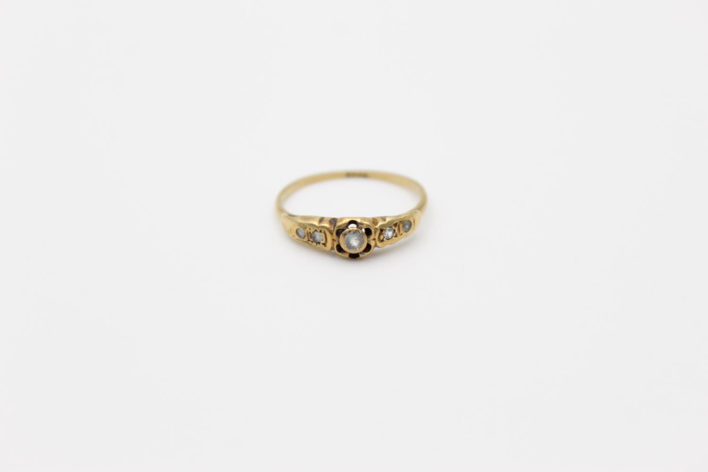 antique 18ct gold diamond set ring 2g Size N