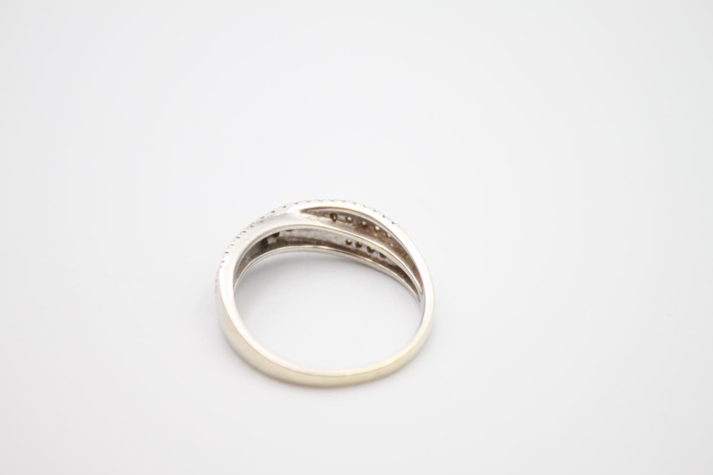 9ct white gold diamond dress ring 3.6g Size P - Image 3 of 4