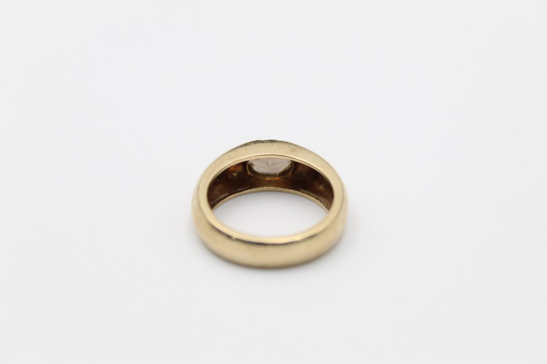 vintage 9ct gold smoky quartz signet style ring 7g Size O - Image 3 of 5