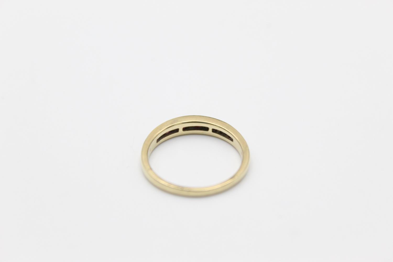 9ct Gold ruby & diamond half eternity ring 2.3g Size P - Image 3 of 5