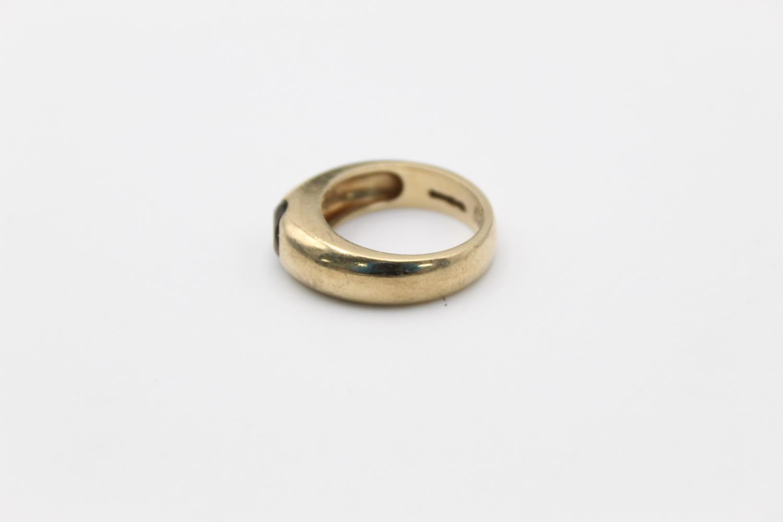 vintage 9ct gold smoky quartz signet style ring 7g Size O - Image 2 of 5
