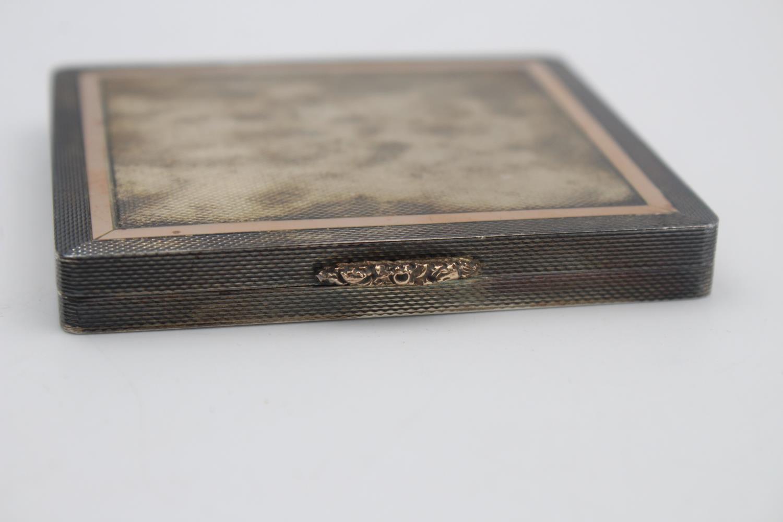Vintage Hallmarked 1959 Birmingham STERLING SILVER Square Cigarette Case (108g) - Image 2 of 4