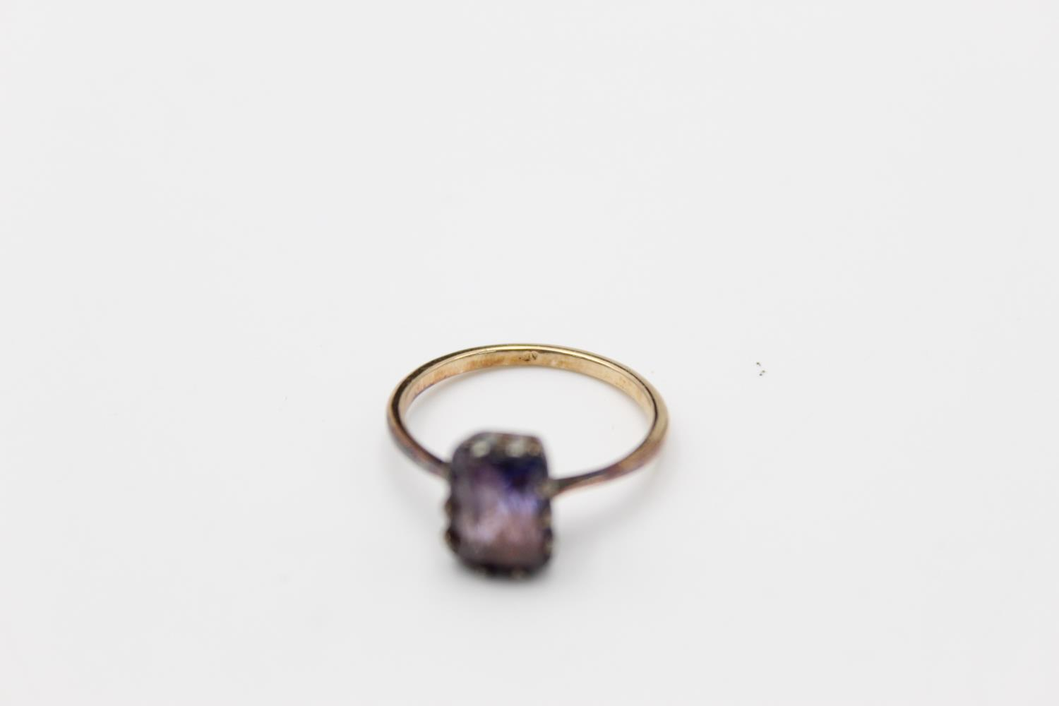vintage 14ct gold synthetic colour change sapphire ring 2.5g Size N - Image 4 of 4