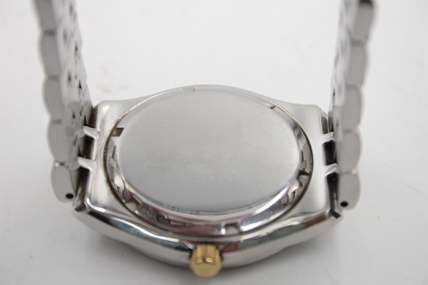 Gents CITIZEN Eco-Drive WR100 Two Tone WRISTWATCH WORKING in Original Box - Image 5 of 7
