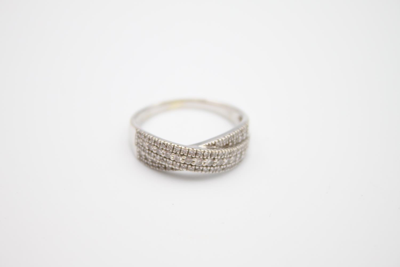 9ct white gold diamond dress ring 3.6g Size P