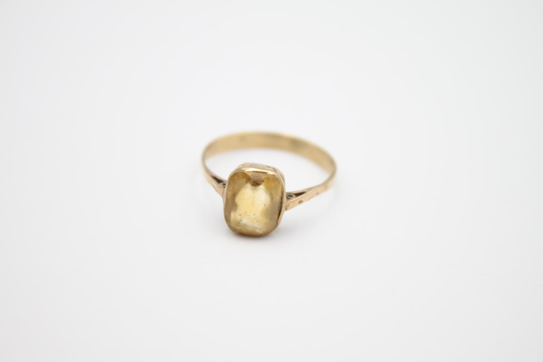 2 x vintage 9ct gold stone set rings inc citrine 3.2g Size K & M - Image 3 of 4