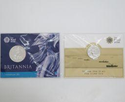 Royal Mint 2015 Britannia £50 silver coin and £20 silver coin
