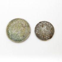 Bank tokens 1811 and Irish 1813