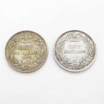 1871 and 1881 shilling both very fine condition