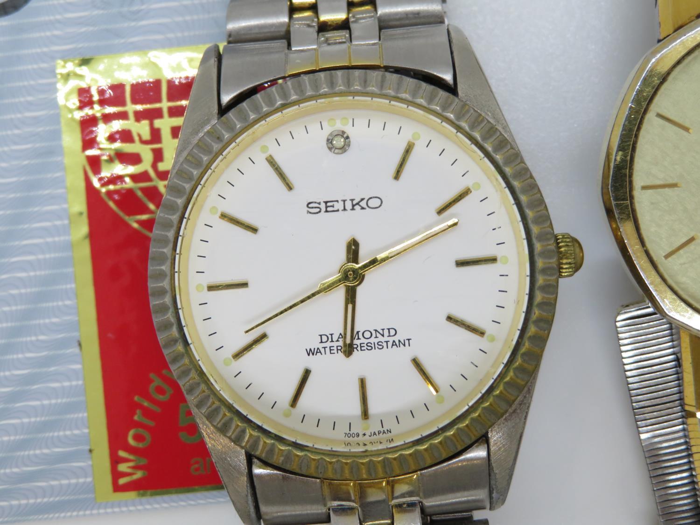 Selection of Seiko watches