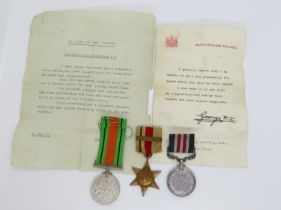 George VI Military Medal group includes Bravery in the Field medal awarded to T/218663 L.Cpl.R.W.