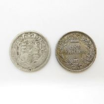 1816 and 1871 shillings