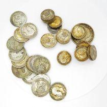 George V 6d shillings, florins half crowns etc. 206g