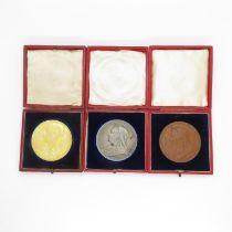 3x Victorian Diamond Jubilee Medallions for 1887