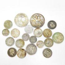 Georgian Edwardian Victorian silver coins 152g
