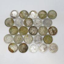 George II and George IV Victorian shillings 1816 1817 1826 1891 x3 1836 x2 1876 1881 x3 1889 x2 1895
