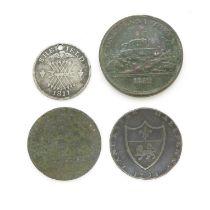 Georgian silver/copper tokens