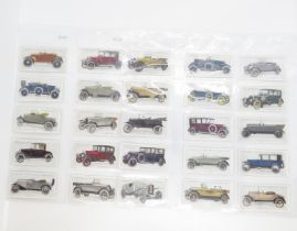 Cigarette cards by Lambert and Butler 1922 Motor Cars A series 25x good condition