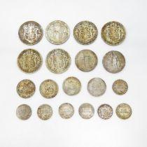 Edwardian half crowns 1902 1903 1906 1907 1909 1910 Florins 1907 1910 shillings 1906 1907 x2 1909