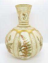 """Purple mark Royal Worcester pattern 1331 Ferns 10"""" vase"""