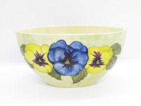 "Moorcroft oval bowl 6.5"" x 3.5"" x 4"" high"