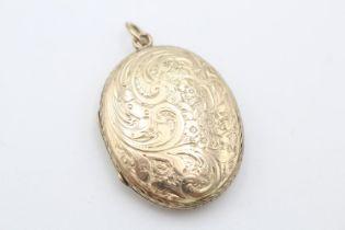 9ct gold antique foliate locket (8.3g)