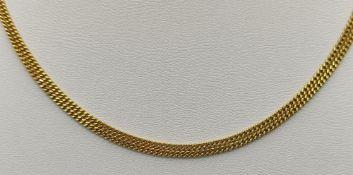 Fine curb chain, ring clasp, FBM, 585/14K yellow gold, 8g, length 80cm