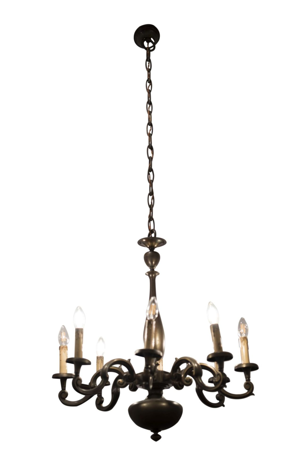 Salon chandelier and two wall appliques