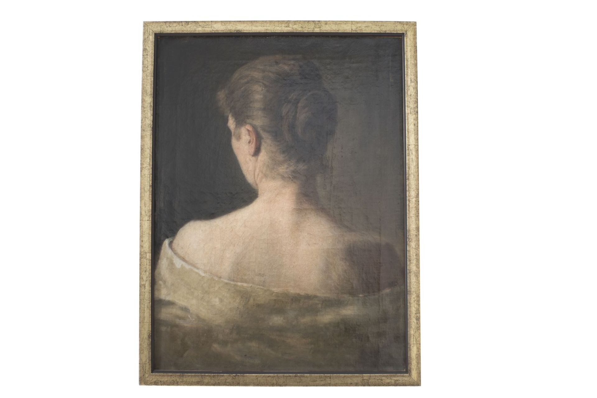 "Painter Austria end of 19th century ""Back view of a lady"""