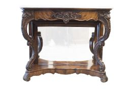 Baroque Buffet with Mirror and Marble Top