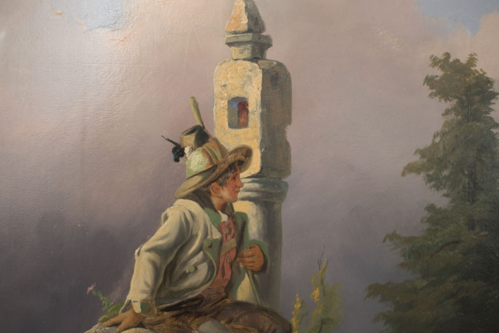 """Painter from the circle Friedrich Gauermann """"Hunter in the high mountains"""" - Image 6 of 9"""