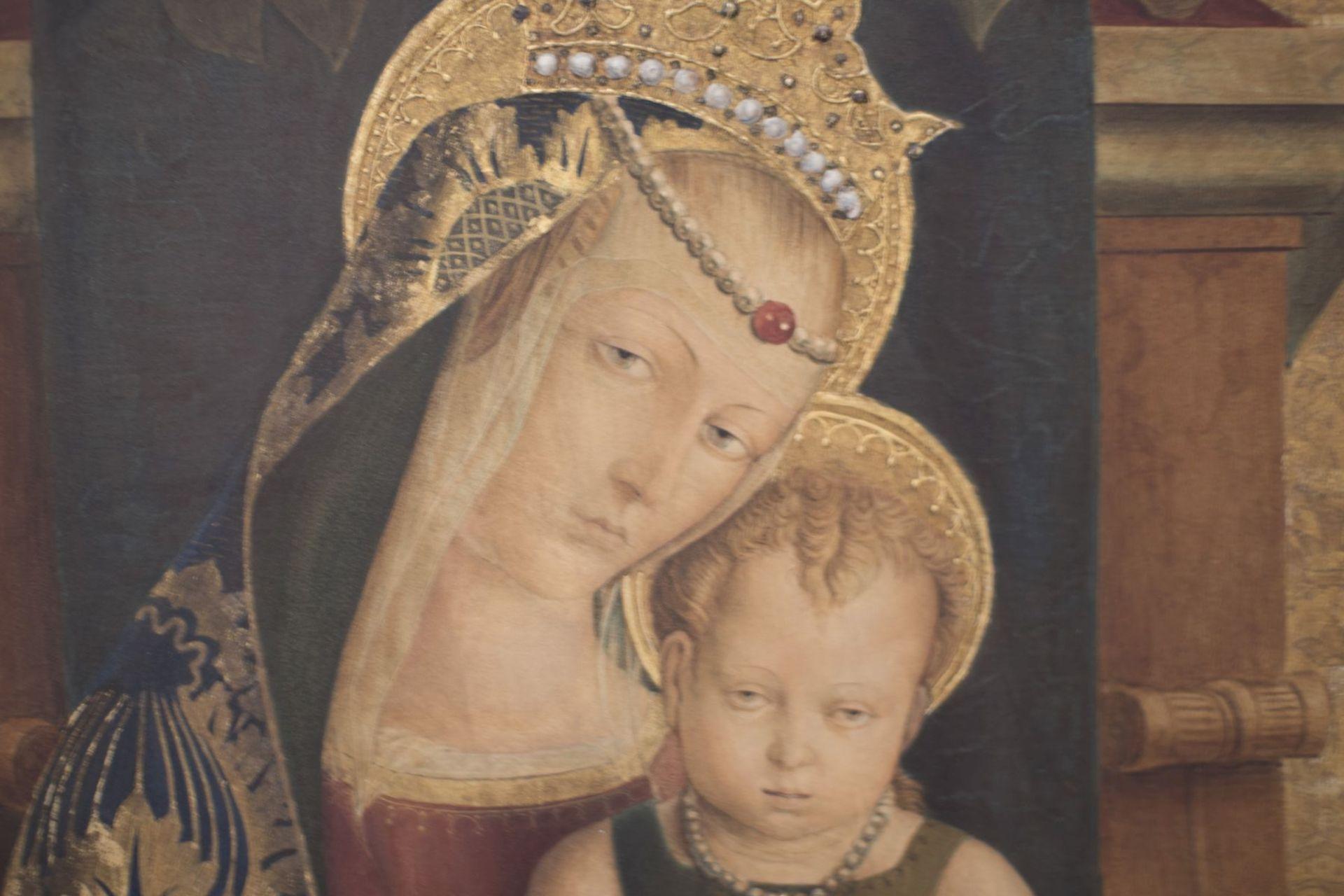 "After an original Opvus Caroli Crivelli Venet 1487 ""Madonna with Child"" - Image 2 of 8"