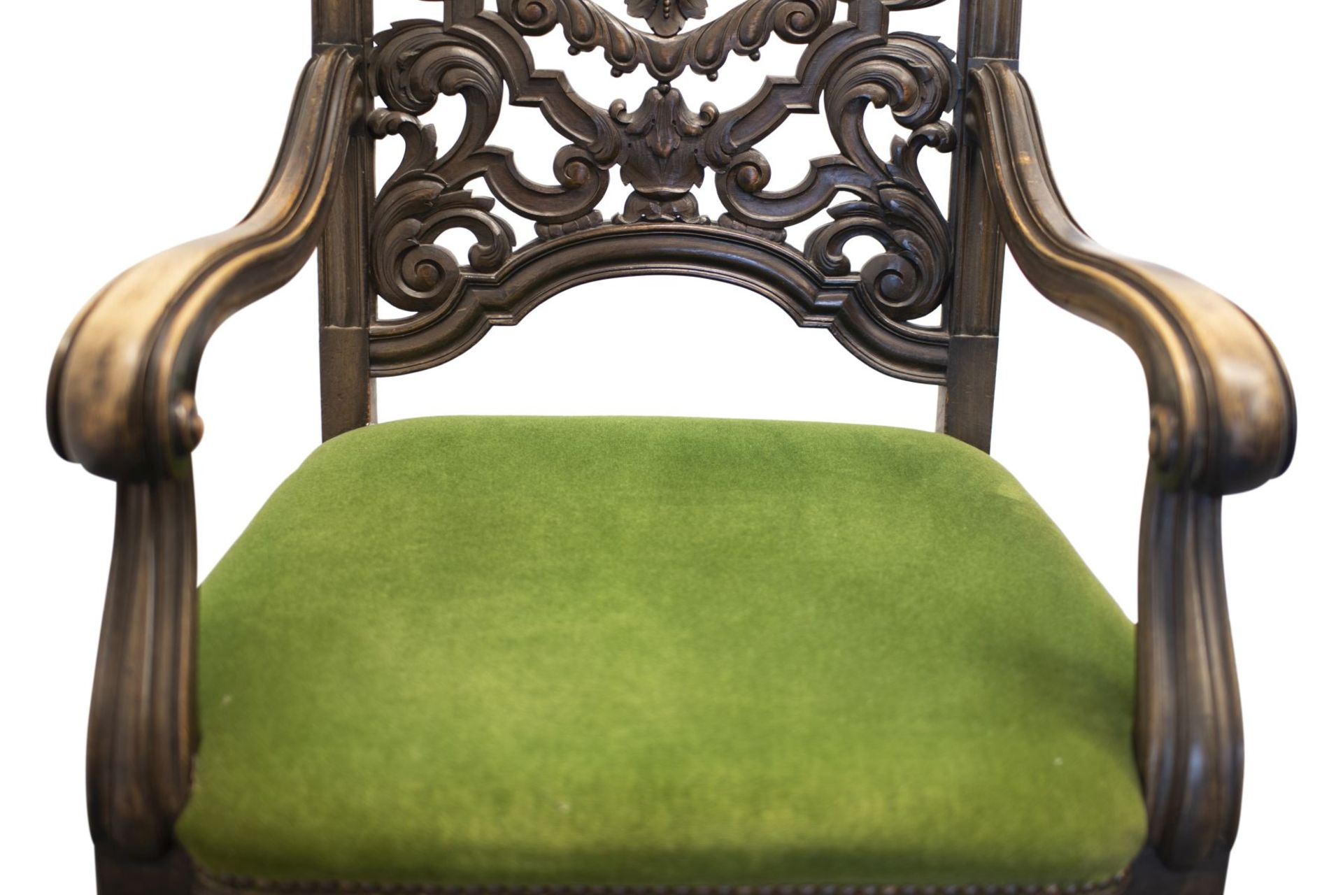 Armchair with carved backrest - Image 3 of 5