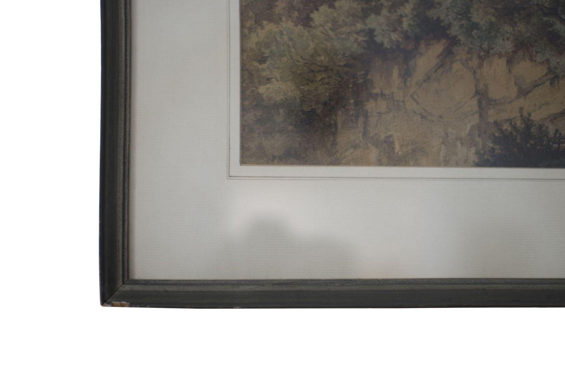 "Jost Anton Muheim (1837-1919) "" Craggy Landscape "" - Image 3 of 4"