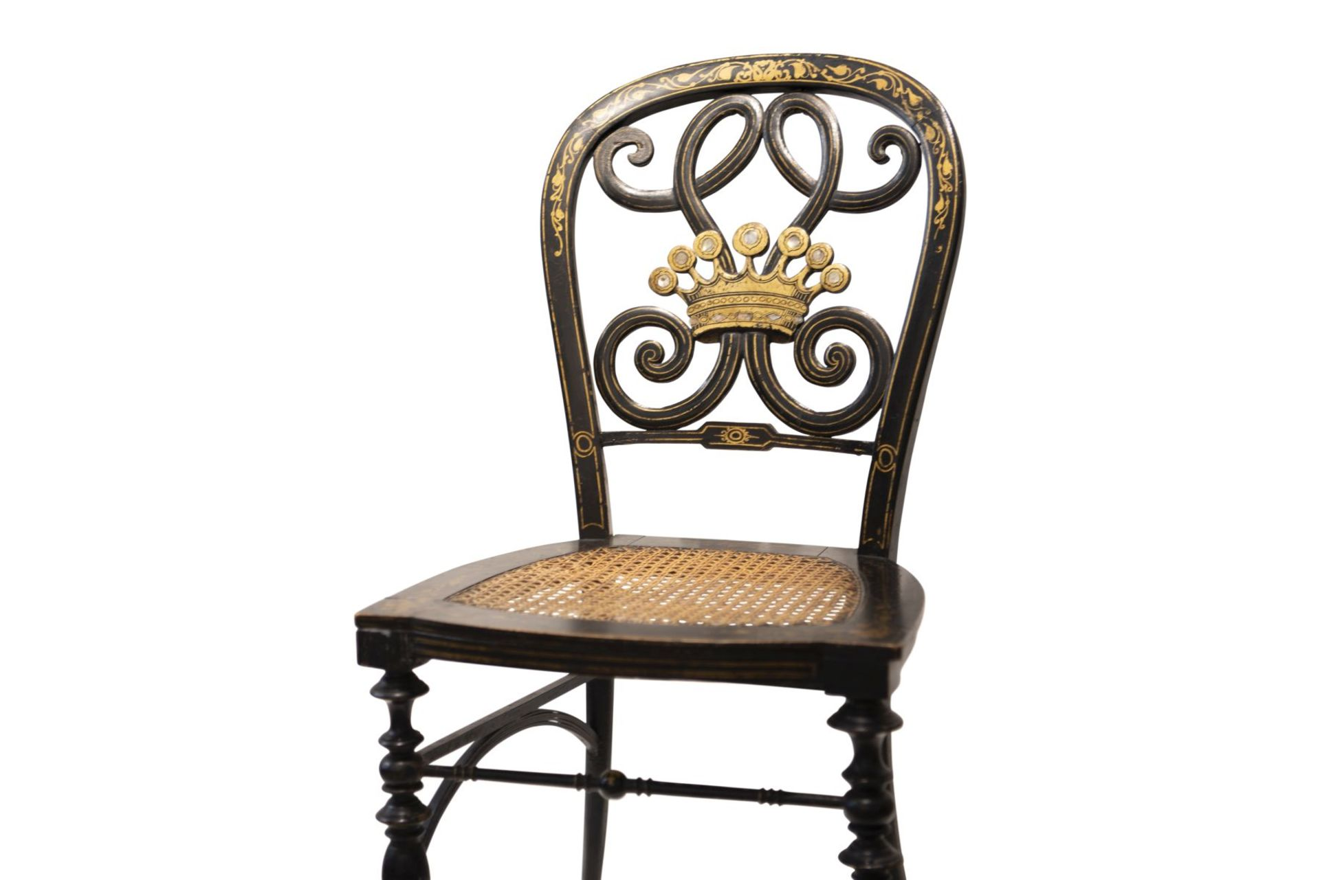 Decorative chair, French Chinoiserie - Image 2 of 7