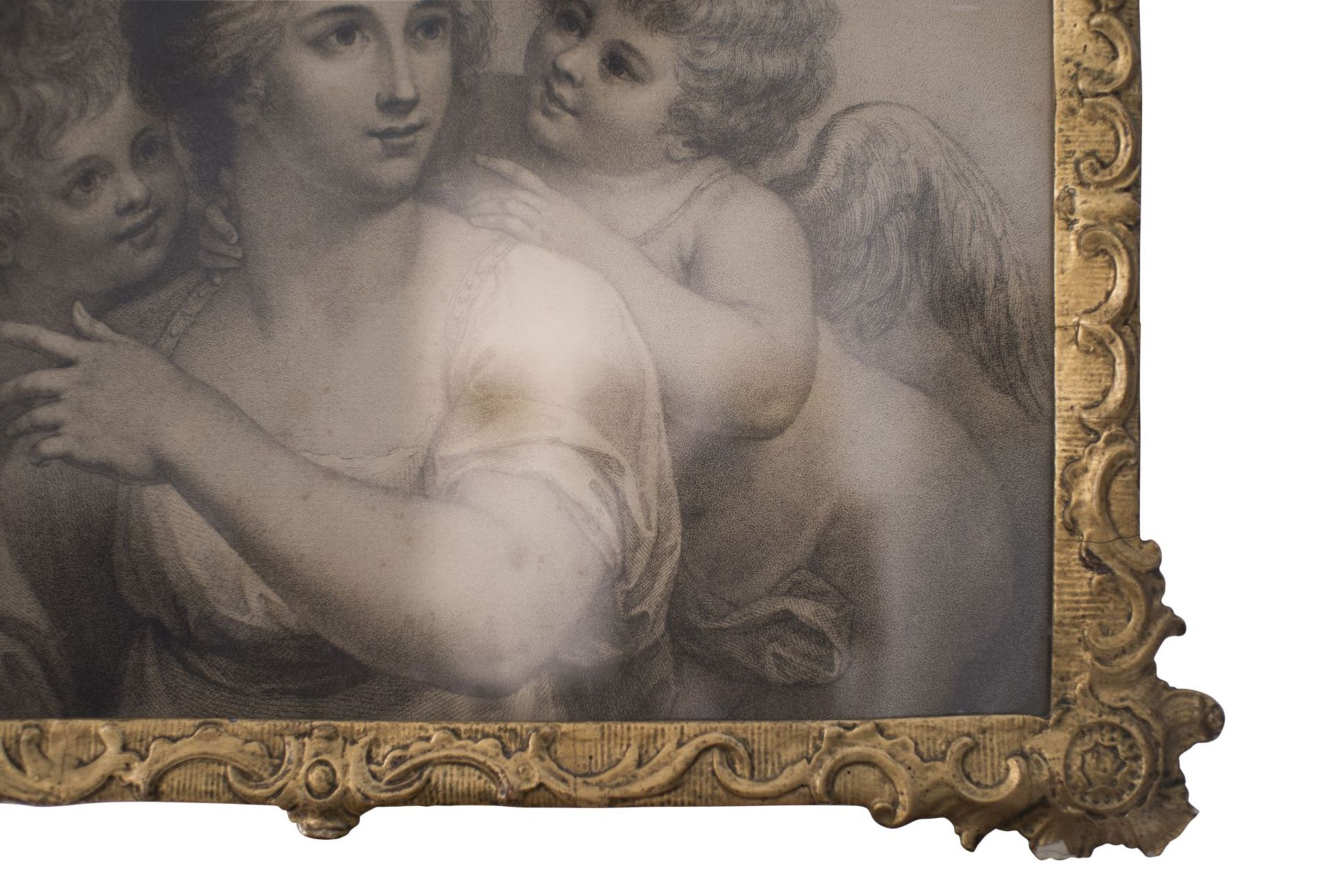 "Artist of the 18th century ""Lady with two lovers"" - Image 3 of 5"