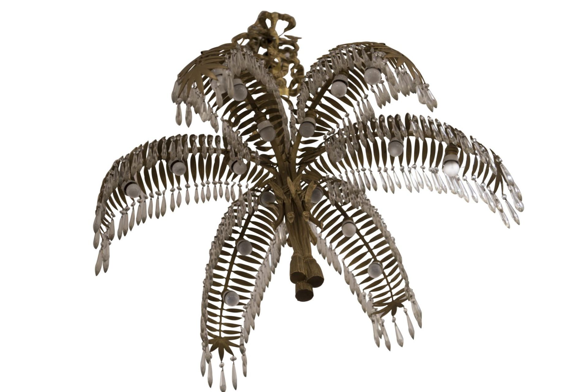 Salon Chandelier, Palm Chandelier by Hoffman for Bakalowits & Söhne, 1970s - Image 3 of 6