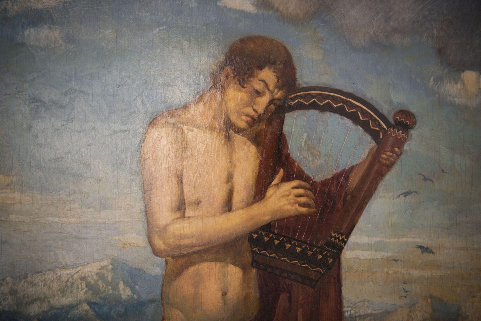 """Franz von Stuck circle Munich around 1900 """" Young man with the lyre"""" - Bild 3 aus 7"""